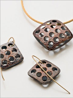 Punched Copper Earrings - Knitting Daily