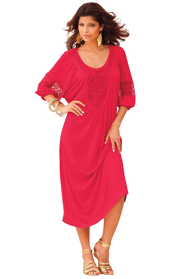 plus size clothes in red