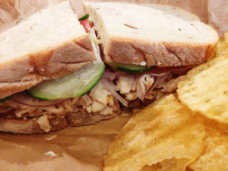 Greek Chicken Sandwich at Brown Bag downtown Anchorage, Alaska. www ...