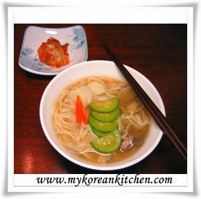 Shellfish and Knife Cut Noodle Soup (Bajirak Kalguksu) | Recipe