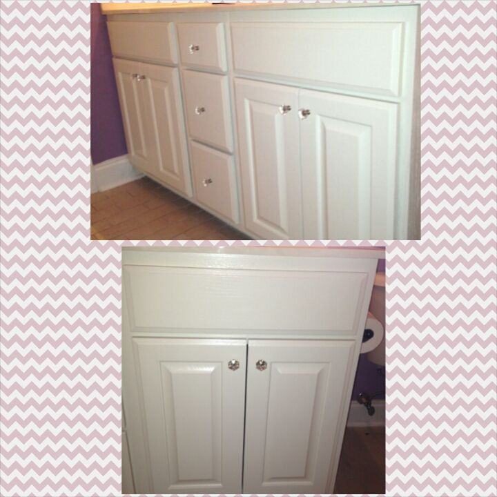 bathroom cabinets refinished cabinet refinishing pinterest
