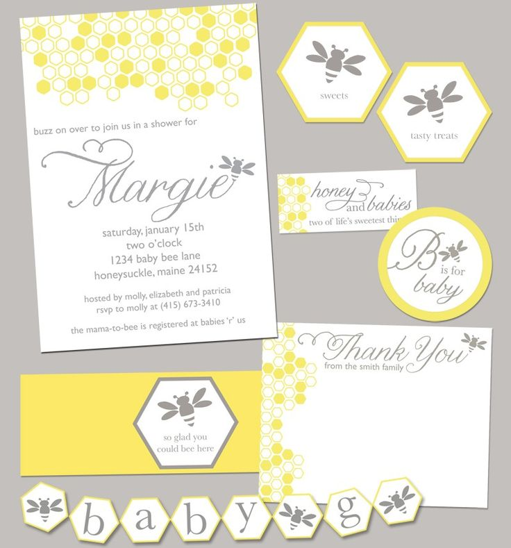 bumble bee baby shower party pack jpeg bumblebee etsy
