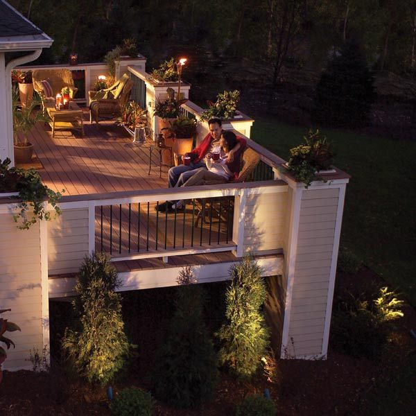 low voltage lighting is simple and safe to install on decks patios or