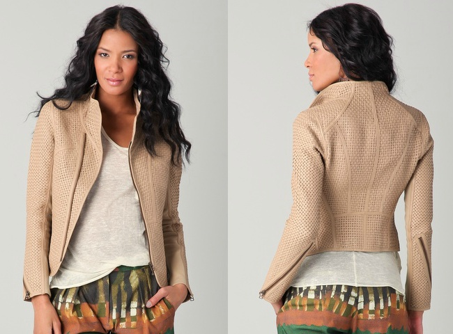Woven Leather Jacket. yes please