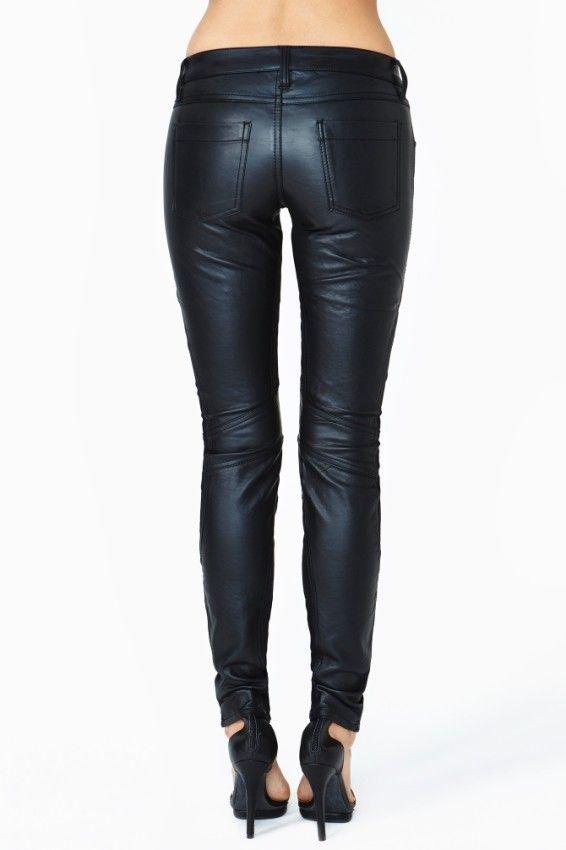 Wonderful Leather Pants Black Pants 90s Pants Women Clothing Black