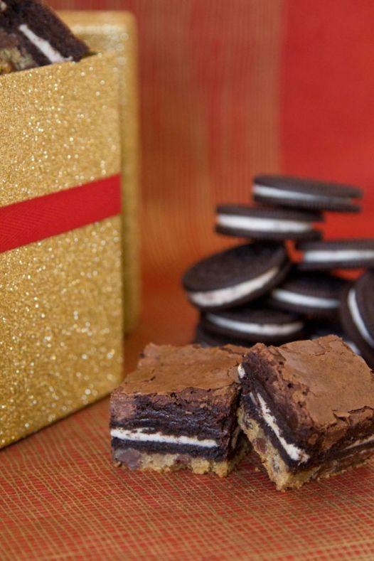 Peppermint Slutty Brownies | yummm. | Pinterest