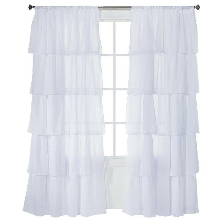"Xhilaration® Ruffle Window Panel - (50x84"") : Target"
