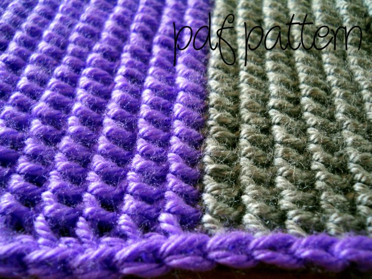 Easy Crochet Striped Afghan Patterns : PDF Crochet Pattern - Beginner Easy - Striped Afghan ...