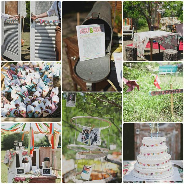 DIY Back Yard Wedding Decoration Ideas