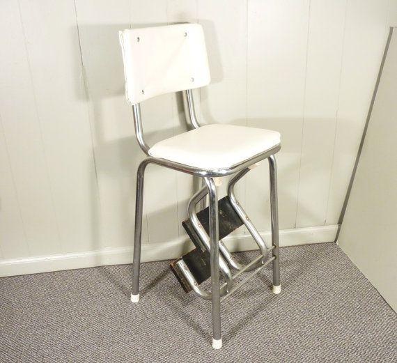 Retro 50s Vintage Step Stool Kitchen Stool Chair