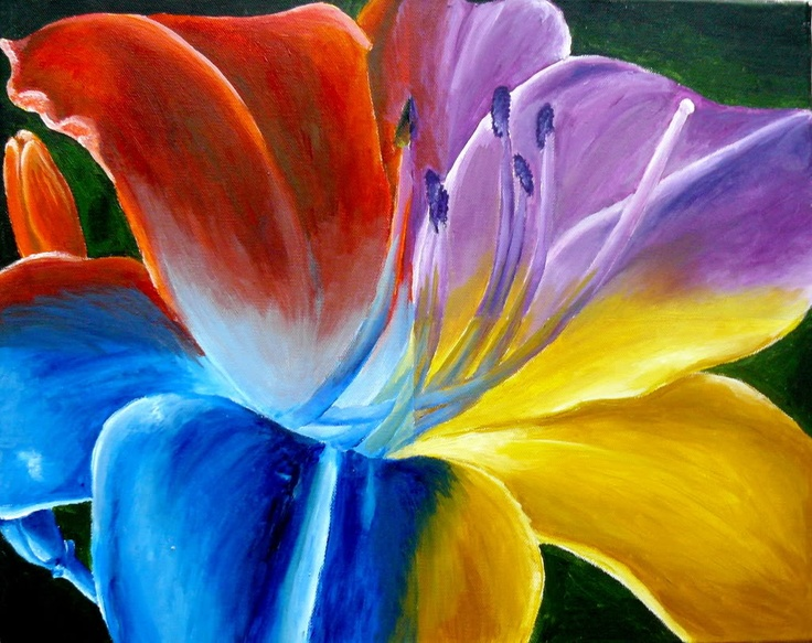 Multi color flower colour and texture pinterest for How to make multi colored flowers