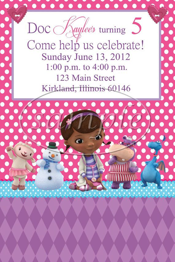Doc Mcstuffins Blank Invitations - More information - Djekova