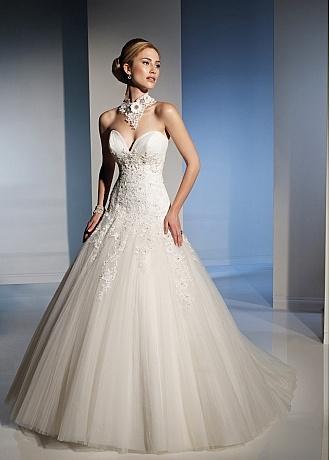 Drop Waist Ball Gown Wedding Dress