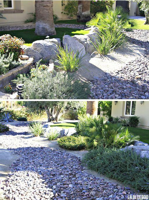 Desert Backyard Makeover : Desert Garden Makeover Ideas, dry river bed