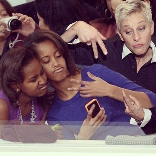 Sasha, Malia & Ellen and 34 other great Ellen moments