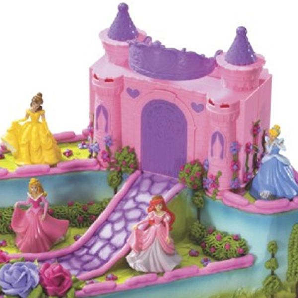 Disney Cake Decorating Ideas : Disney Princess Castle Cake