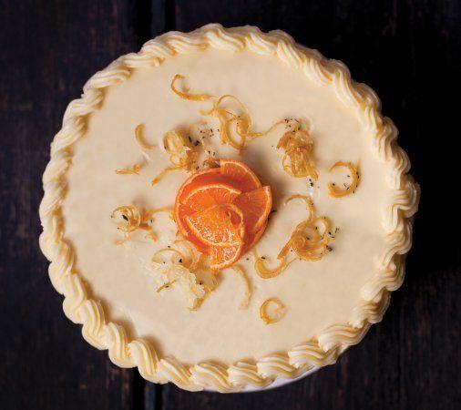 Clementine Meringue Cake With Rosemary Recipe