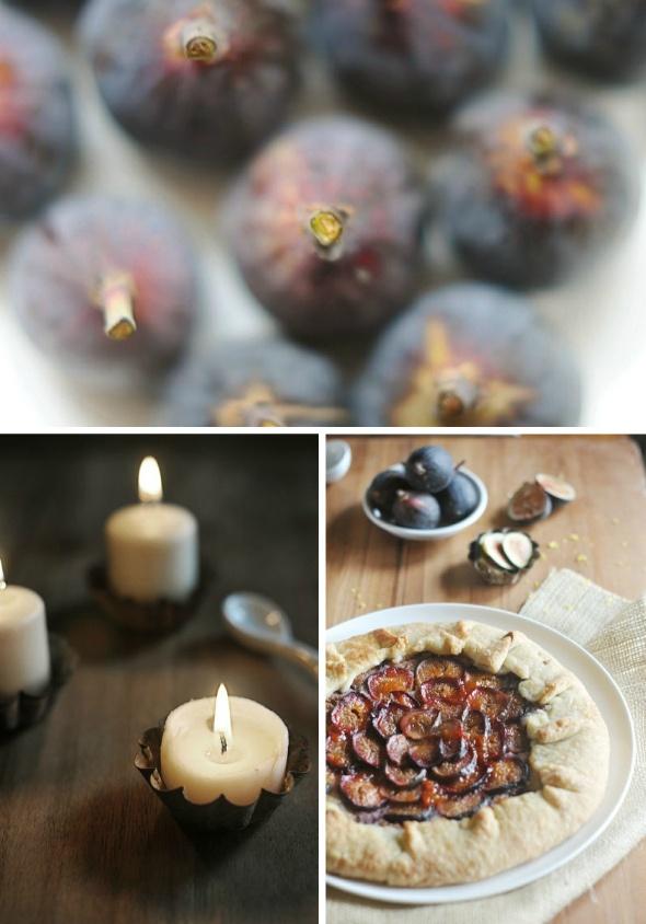 fig & almond rustic tart