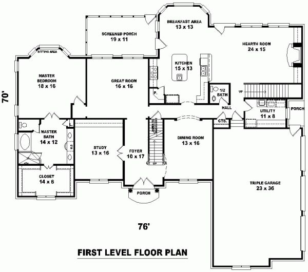 House floor plans with double staircases joy studio for Dual staircase house plans