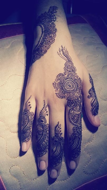 Back Hand Side Henna Design - 6