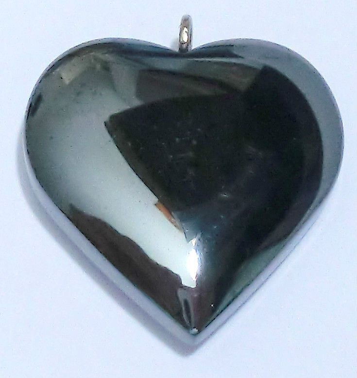 shiny black hematite pendant stone jewellery making chains