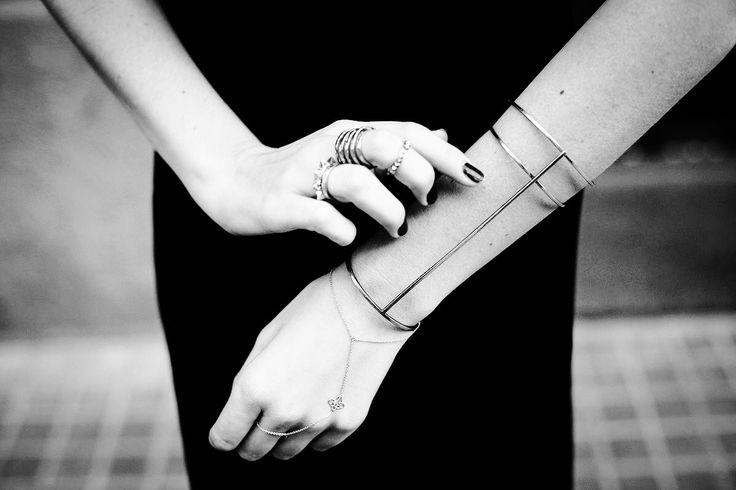 Caged bracelets.