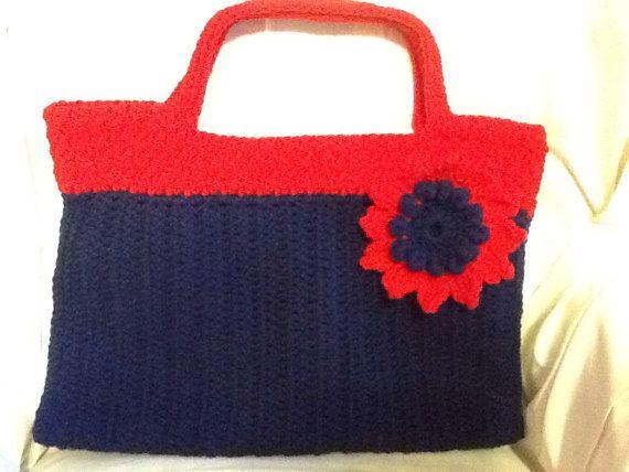 Handmade Bags and Purses Crochet Blue and by KirtonKornersCrochet, $30 ...