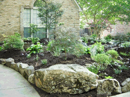 rock stone flower bed landscape flower beds pinterest. Black Bedroom Furniture Sets. Home Design Ideas