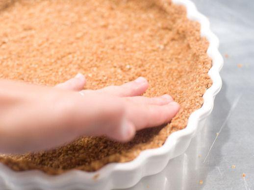 Oat Crumble Crust [gf oats, salt, gf flour mix (1/2C), butter, sorghum ...