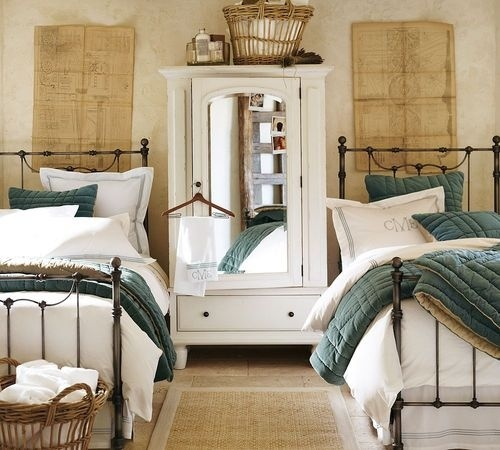 Twin beds guest room for the home pinterest for Guest bedroom furniture