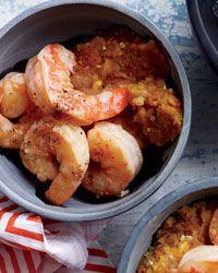 Mofongo with shrimp.