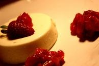 FAGE greek yogurt panna cotta with rhubarb-strawberry compote...also on my to-make list...