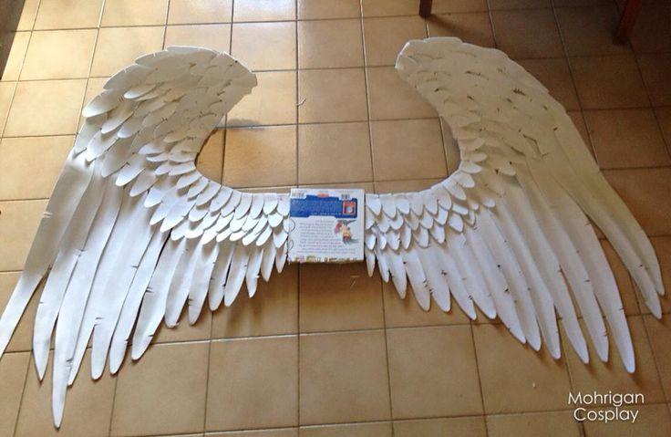 Как сделать крылья для человека из бумаги