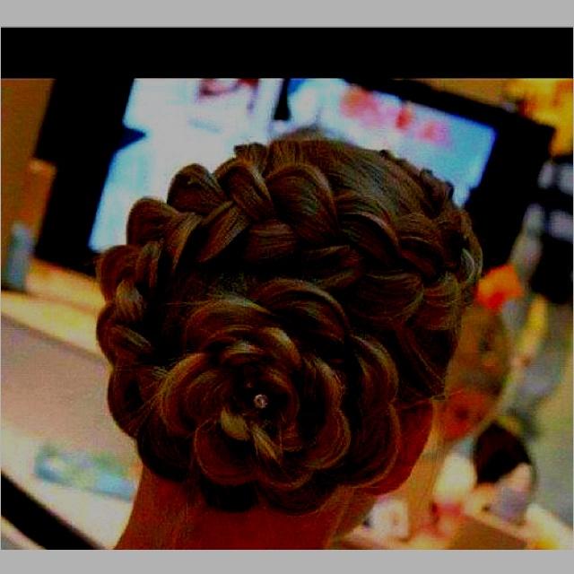 Flower braid updo | Hair Binge!!! | Pinterest