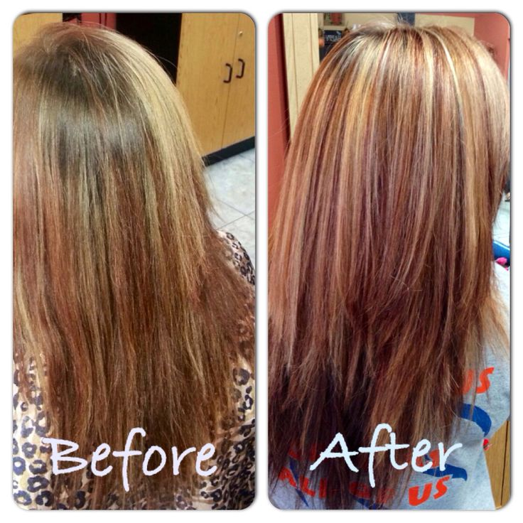 Red and blonde highlights   Hairstyles   Pinterest