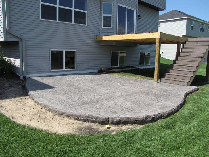 Backyard Cement Patio Ideas : Decorative Concrete Patios  Outside  Pinterest