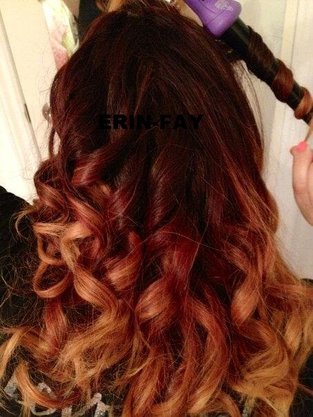 my red to blonde ombre hair :)  in love | Beauty.