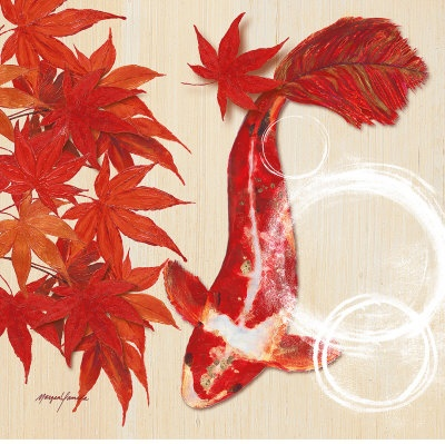 2 - koi fish pond, symbol of love and friendship in japanese culture, wealth and prosperity in chinese culture