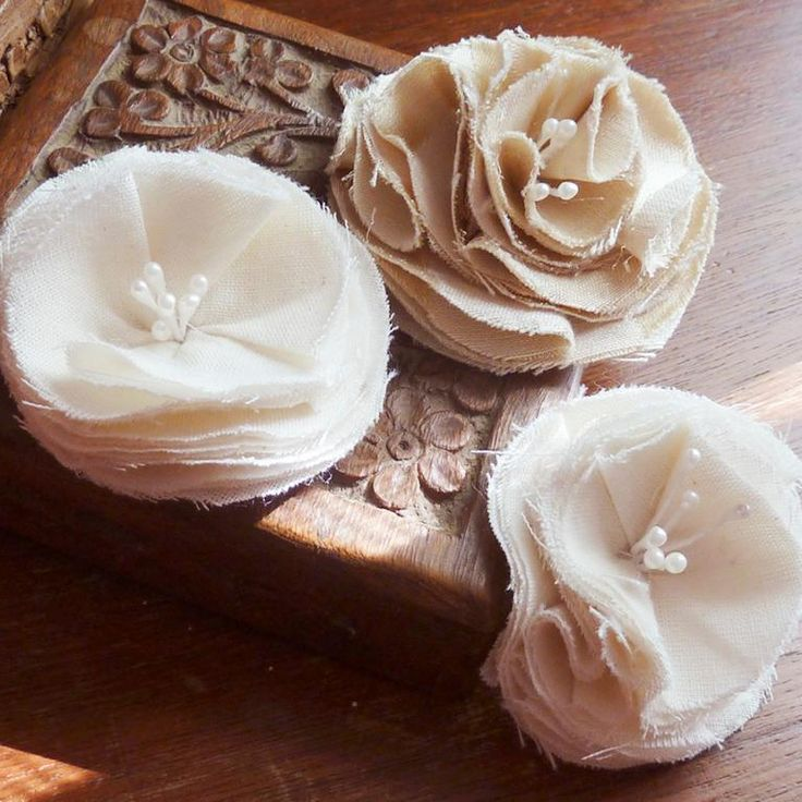 Sewing: Shabby Chic Fabric Flowers tutorial