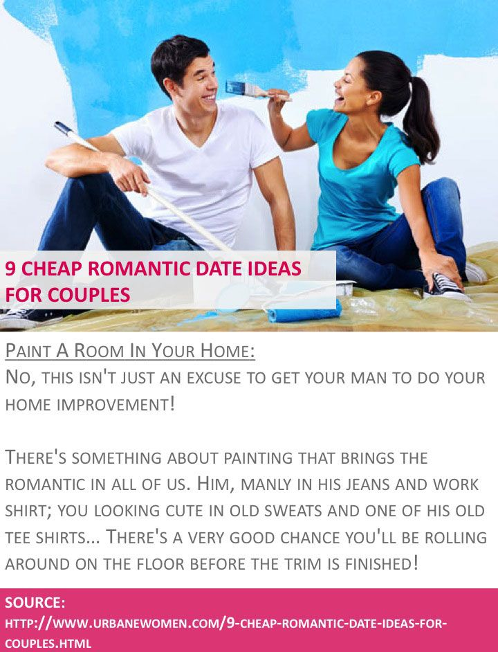 cheap romantic date ideas for couples paint a room in your home