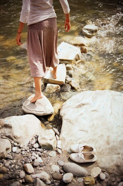 If I ever live in a place with a creek, I'll make stepping stones through it. By plakka, via Flickr.