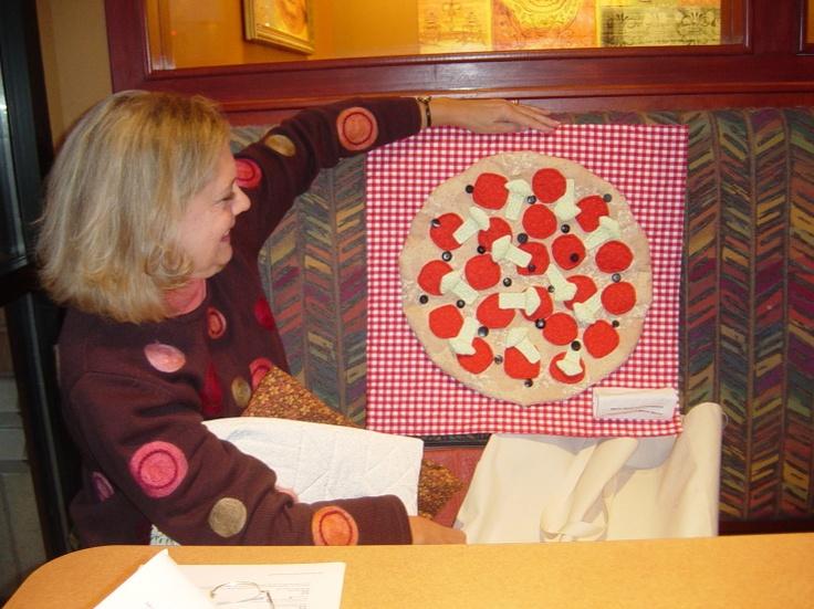 Priscilla with Pizza Quilt | Craftystuffs | Pinterest