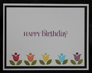 Happy Birthday card made using Bright Blossoms stamp set.