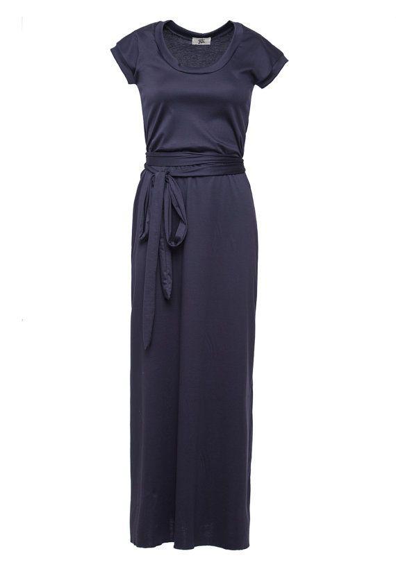 Simple Women Elegant Striped Oversized Long T Shirt Dress Long Sleeve O Neck