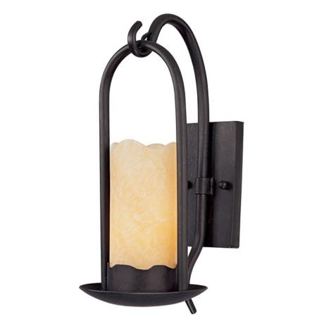 Fake Candle Wall Lights : Hanging Onyx Faux Candle Wall Sconce