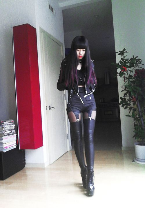 From Closet of Milk and Honey, this Hipster #Goth girl certainly has a powerful look