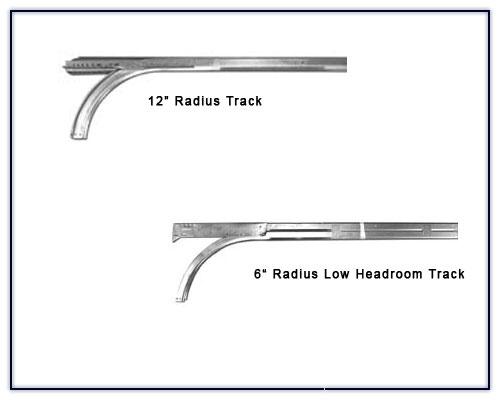 Overhead Door Track Radius : Garage door parts track