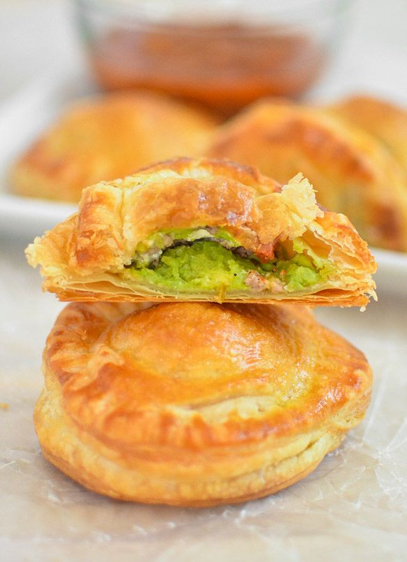 Avocado, Goat Cheese and Sausage Puff Pastry Pockets | Recipe