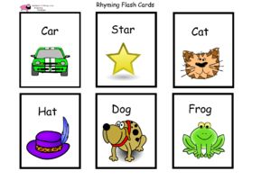 Unusual image for rhyming flash cards printable