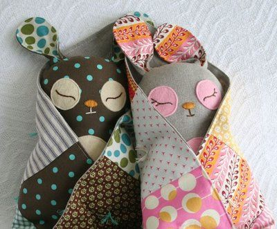 bunnies! tutorial ~ these are so sweet.